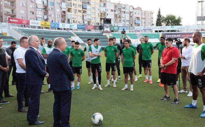Denizlispor'da, Gaziantep FK maçı öncesi Vali'den ziyaret