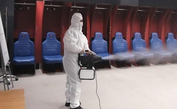 Medical Park Stadyumu'nda dezenfekte çalışması