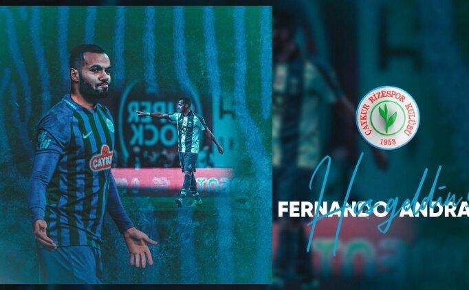 Çaykur Rizespor, Fernando Andrade'yi kadrosuna kattı