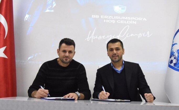 Erzurumspor, Hüseyin Çimşir ile sözleşme imzaladı