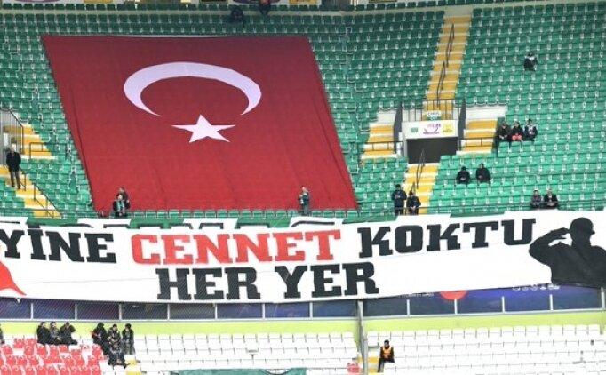 Konyaspor maçında şehitlerin adı okundu; Boğazımız düğümlendi
