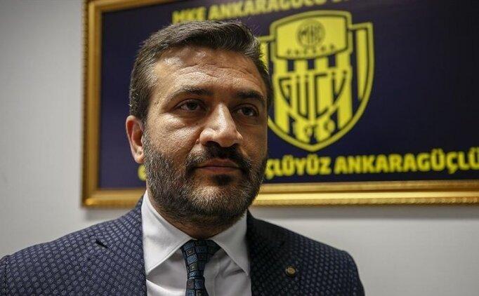 Ankaragücü Başkanı Fatih Mert: 'Maçın kaderiyle oynadılar'