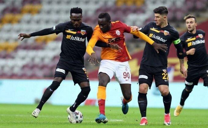 Eksik Galatasaray, 10 kişilik Kayserispor'a takıldı!