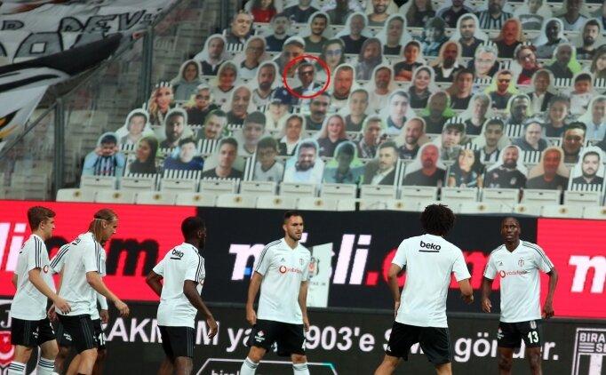 Beşiktaş'ın sahasında ilginç görüntü; Fikret Orman