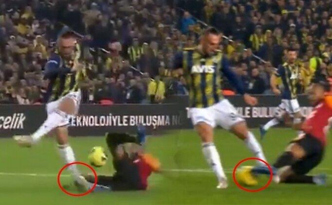 Fenerbahçe - Galatasaray maçında konuşulan penaltı pozisyonu