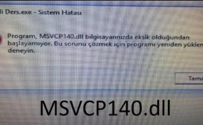 msvcp140.dll indir (EBA hatası çözümü yolları) EBA TV hatası nasıl düzeltilir?