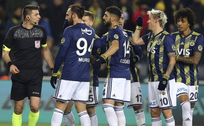 Fenerbahçe'den penaltı öncesi faul tepkisi