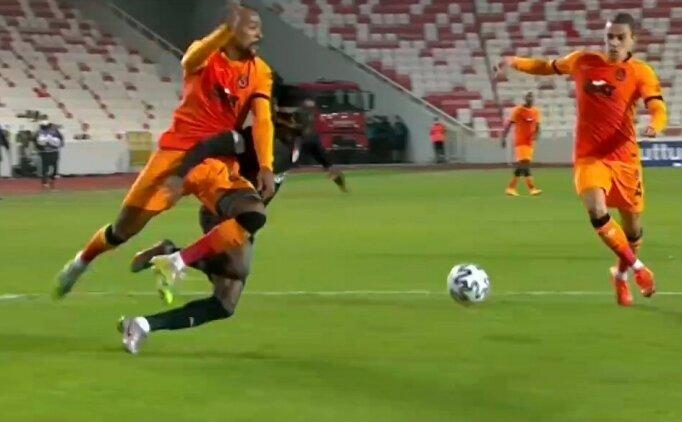 Sivasspor - Galatasaray maçındaki konuşulan penaltı pozisyonu