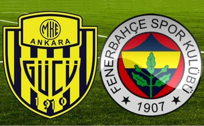 CANLI Ankaragücü Fenerbahçe maçı şifresiz izle, FB maçı kaç kaç?