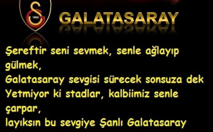 Kısa güzel Galatasaray sözleri resimli mesaj, Galatasaray ile ilgili mesajlar (15 Ocak Cuma)