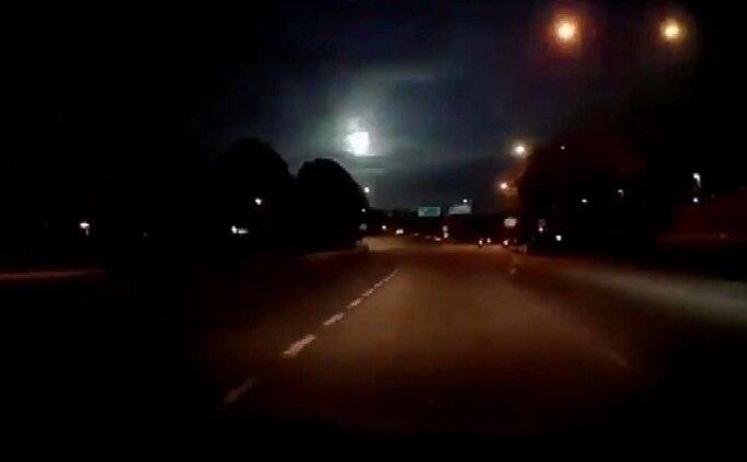 SON DAKİKA Meteor düştü, görüntüleri izle