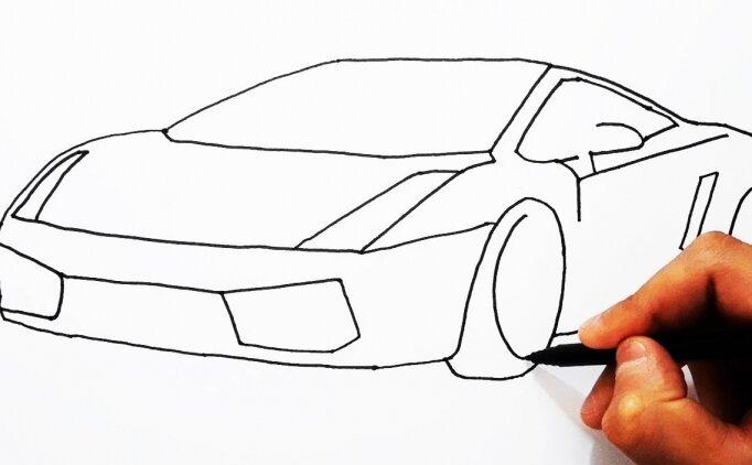 Hıdırellez araba nasıl çizilir? Kolay araba çizimi!