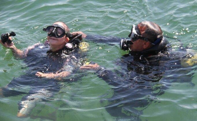Down sendromlu milli sporcular Beyşehir Gölü'nde dalış yaptı