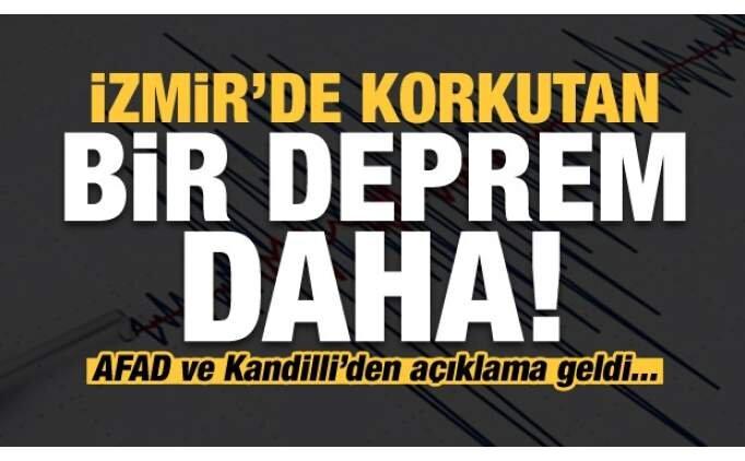 Son dakika: İzmir'de bir korkutan deprem daha!