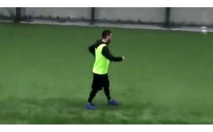 Barcelona'dan halı sahaya! İşte Arda Turan'ın attığı gol .