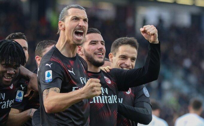 Zlatan sahne aldı, Milan kazandı