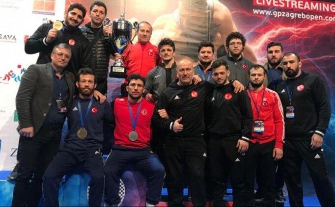 Grekoromen Güreş Milli Takımı, Hırvatistan'da şampiyon oldu
