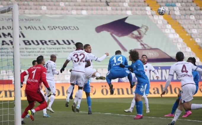 Trabzonspor - Erzurumspor maçında gol sesi çıkmadı
