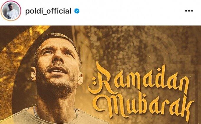 Antalyasporlu Podolski'den ramazan mesajı