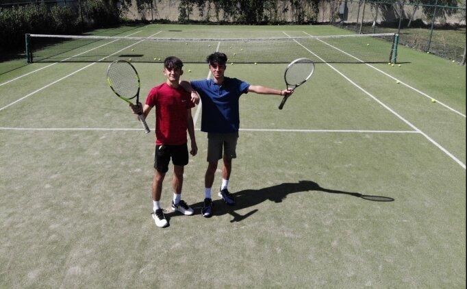 Ağrılı genç tenisçiler Türk bayrağını uluslararası müsabakalarda dalgalandırmak istiyor