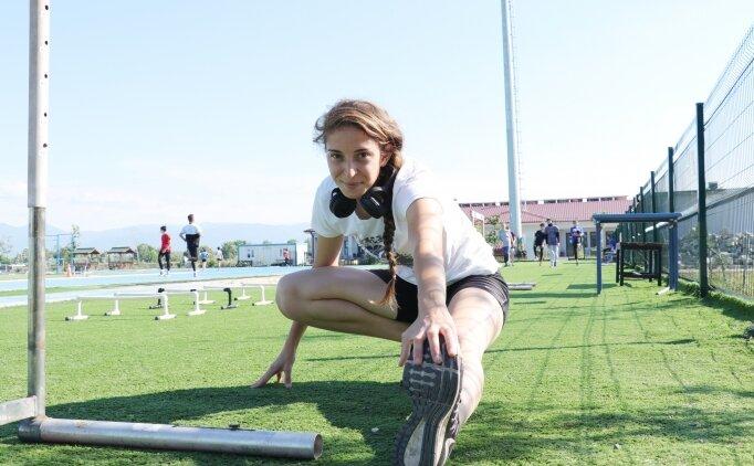 Milli atlet Emine Selda Kırdemir, Balkan ve Avrupa şampiyonlukları için ter döküyor