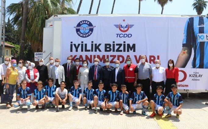 Adana Demirspor ile TCDD kan bağışı kampanyası düzenledi