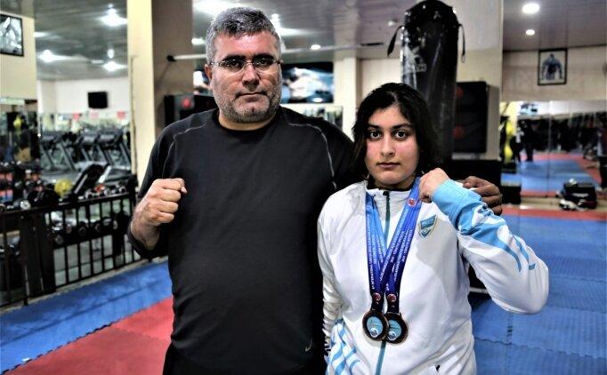Şanlıurfalı genç kick boksçu Fatma Nursev Akaltun'un hedefi dünya şampiyonluğu
