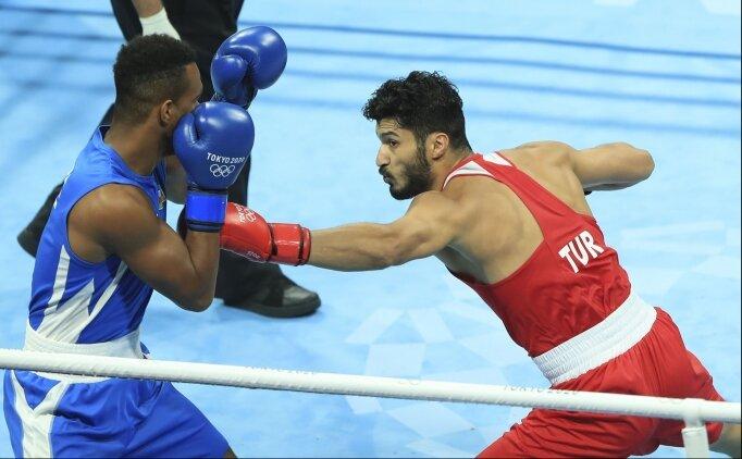 Tokyo 2020'de milli boksör Bayram Malkan çeyrek finalde elendi