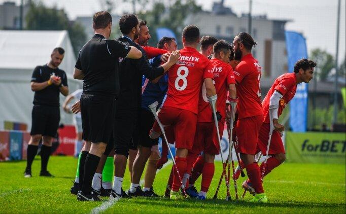Ampute Futbol Milli Takımı, çeyrek final maçına çıkıyor