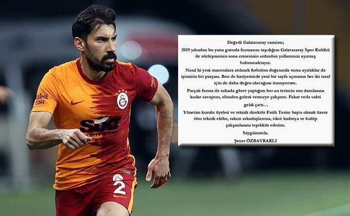 Şener Özbayraklı'dan Galatasaray'a veda
