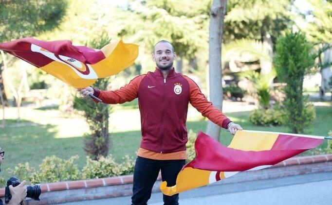Wesley Sneijder: 'Kalbim Galatasaray ile olacak'