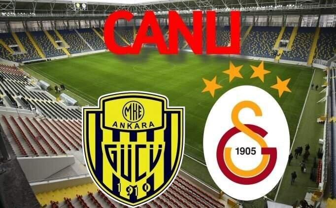Ankaragücü Galatasaray maçı İZLE, CANLI Ankaragücü GS maçı burada