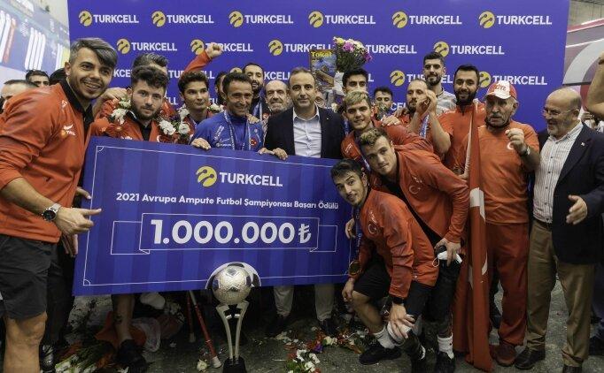 Turkcell'den Avrupa Şampiyonu Ampute Futbol Milli Takımı'na 1 Milyon TL'lik Başarı Ödülü