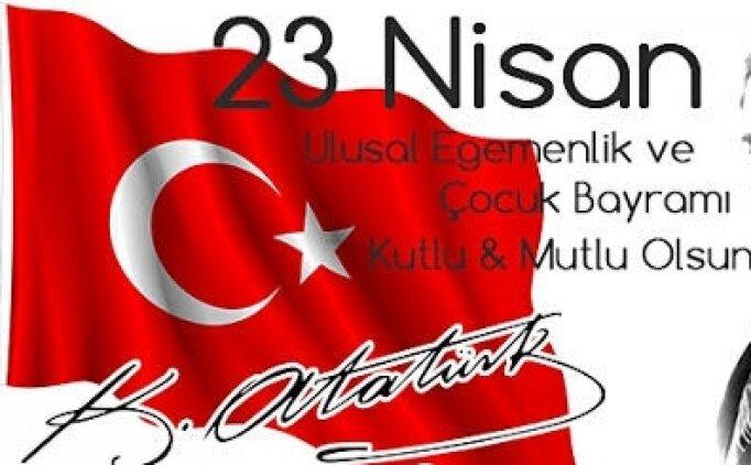Türk bayrağı boyama, evde bayrak çizimi (23 Nisan 2021)