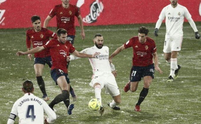 Real Madrid karın altında 1 puana razı oldu