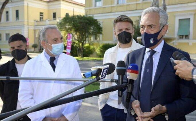 Euro 2020 öncesi İtalya oyuncuları aşı oldu