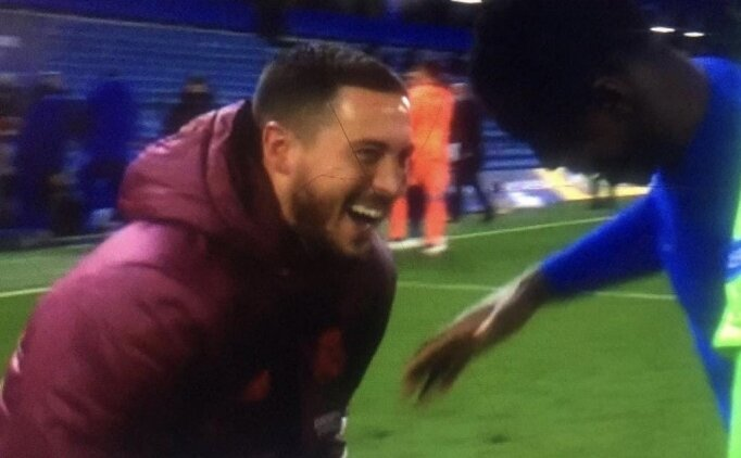 Hazard'ın maç sonu görüntüsü tartışma oldu