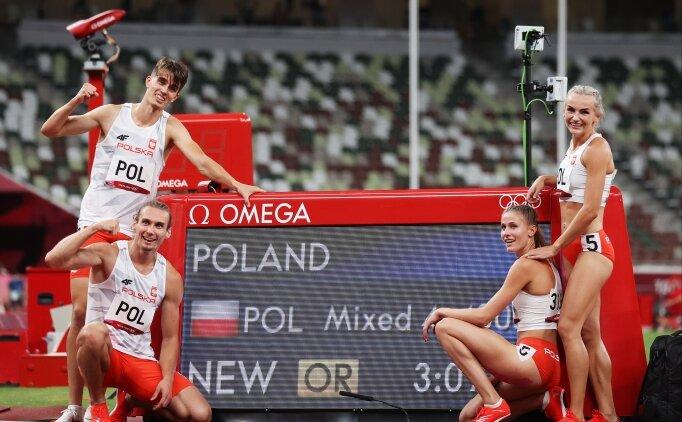 4x400 metre karışık bayrak yarışında Polonya, olimpiyat rekoru kırdı!