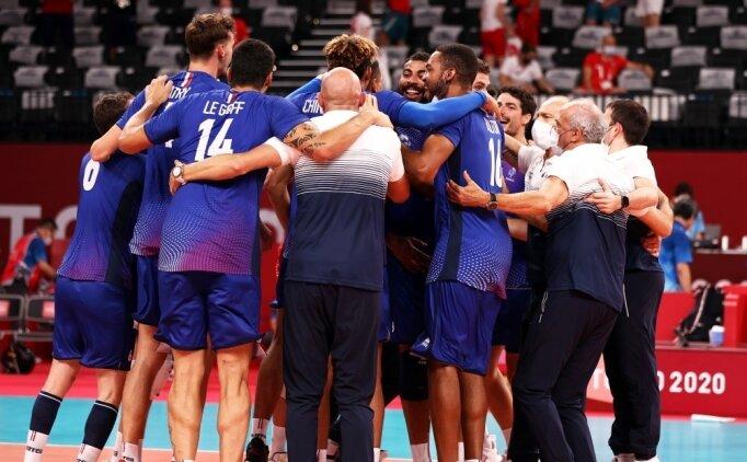 Tokyo'da erkek voleybolda son yarı finalist Fransa