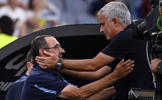 Roma derbisinin ardından Mourinho ve Sarri konuştu