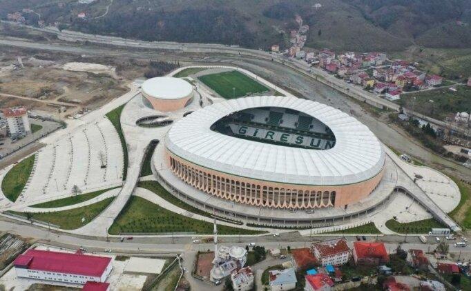 Giresun'da Çotanak Stadı resmen açılıyor