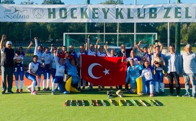 Gaziantep Polisgücü Kadın Hokey Takımı, Avrupa Şampiyonası Challenge 3'de şampiyon oldu