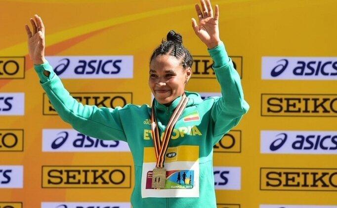 Kadınlar 10 bin metrede dünya rekorunun yeni sahibi Etiyopyalı Gidey
