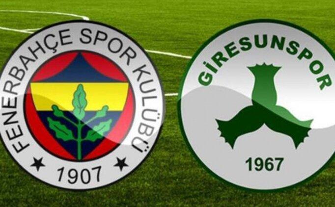 Canlı şifresiz izle Fenerbahçe Giresunspor maçı