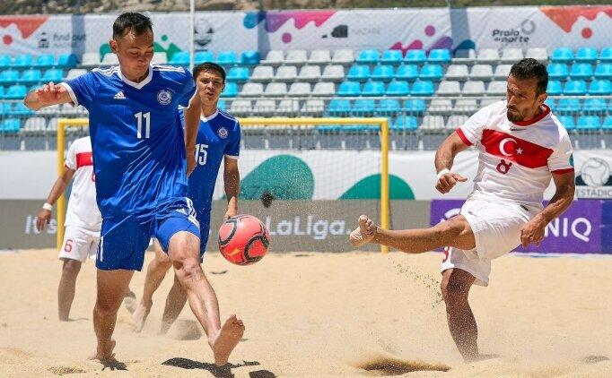 Plaj Futbolu Milli Takımı, Kazakistan'ı yendi