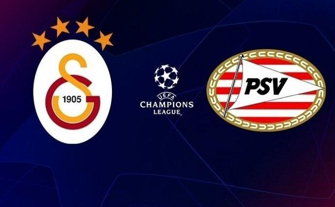 CANLI Galatasaray PSV Eindhoven maçı izle, GS şifresiz izle