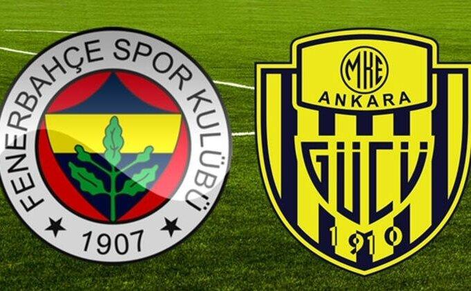 Fenerbahçe Ankaragücü CANLI İZLE, Şifresiz Ankaragücü Fener maçı izle