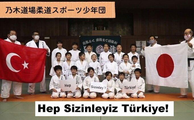 Japon sporculardan Türkiye Judo Milli Takımı'na destek: 'Maraş dondurması gibi dayanıklı olun'