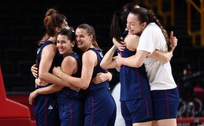 Kadın basketbolunda ilk yarı finalist Sırbistan oldu