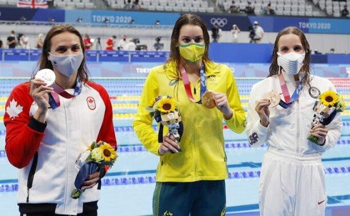 Sırtüstü 100 metre yüzmede altın rekorla geldi